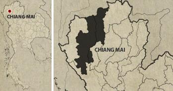 Chiang Mai Wat Chedi Luang Location Map
