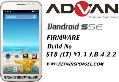 Firmware Advan S5E S18 (LT) V1.1 J.B 4.2.2
