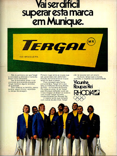 propaganda Tergal - 1972, Moda anos 70; propaganda anos 70; história da década de 70; reclames anos 70; brazil in the 70s; Oswaldo Hernandez