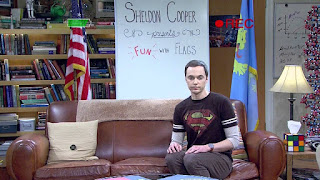 Sheldon Cooper and his tissue box of rubik's cube The BIg Bang Theory