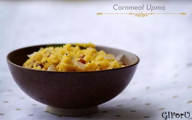 cornmeal upma-recipe-how to make Corn Meal Upma Recipe at GIforU
