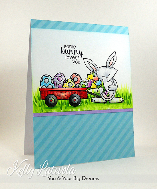 Bunny card by Kelly Latevola | Hello Spring Stamp set by Newton's Nook Designs #newtonsnook #bunny #spring