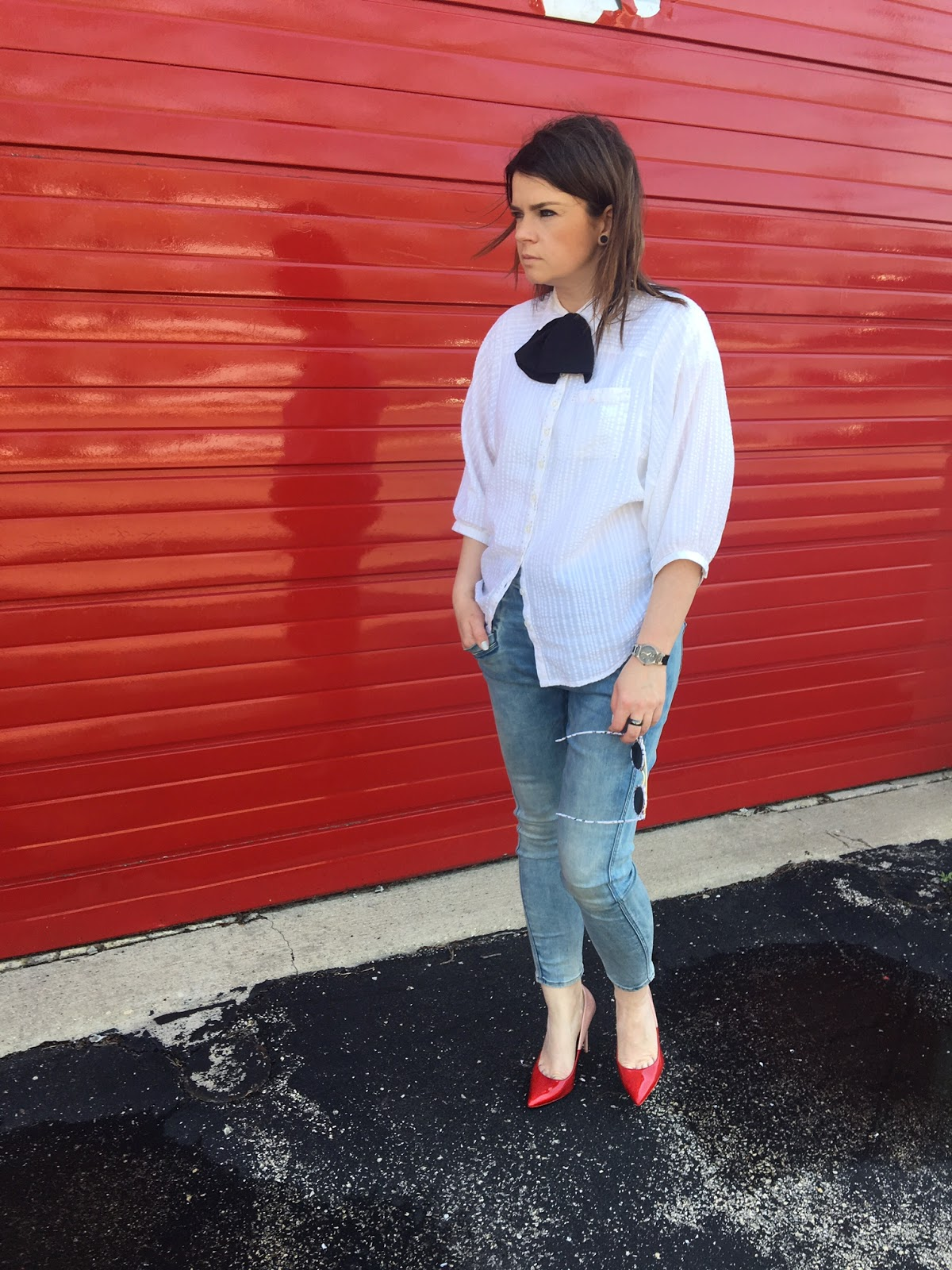 Red pumps & a bow tie