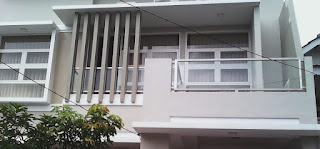 railing tangga kaca stainless steel