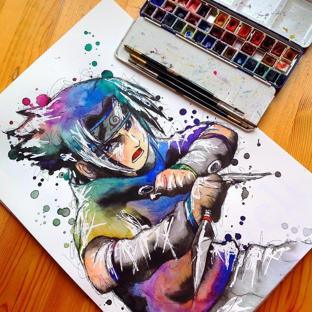16-Sasuke-Lisa-Marie-Melin-LittleGeekyFanArt-Fan-Art-Comic-Manga-and-Video-Game-Paintings-www-designstack-co
