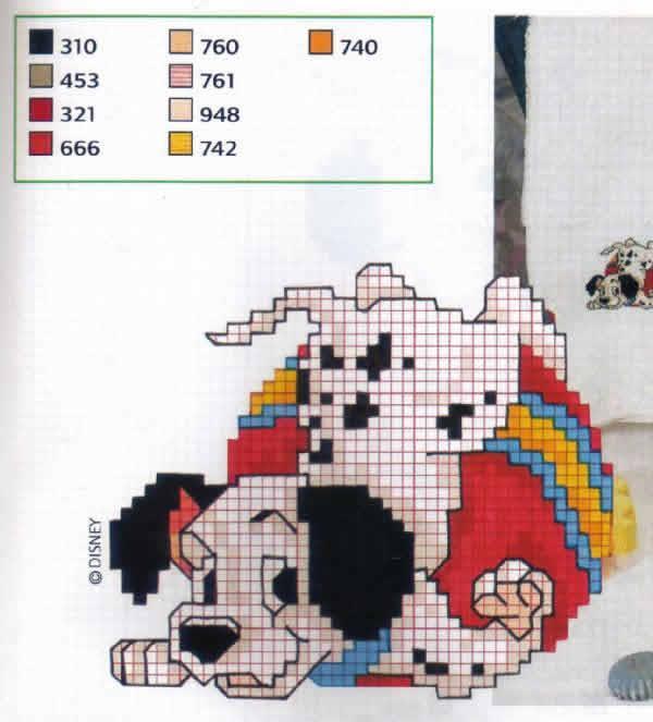 Unhas E Artesanato: ' Gráficos 101 Dálmatas