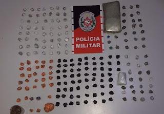 PM prende jovem com quase 1 quilo de maconha, em Piancó