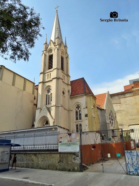 Vista ampla da Igreja Martin Luther em estágio final de restauração - República/Centro - São Paulo