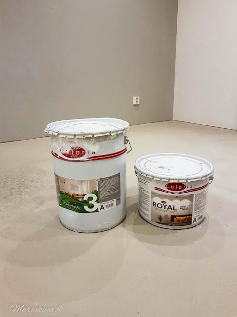 makuuhuone remontti maali coloria