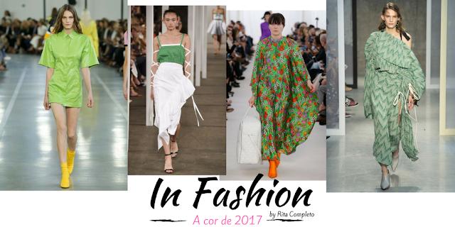 Imagens de desfiles de moda primavera verão 2017 - grenery