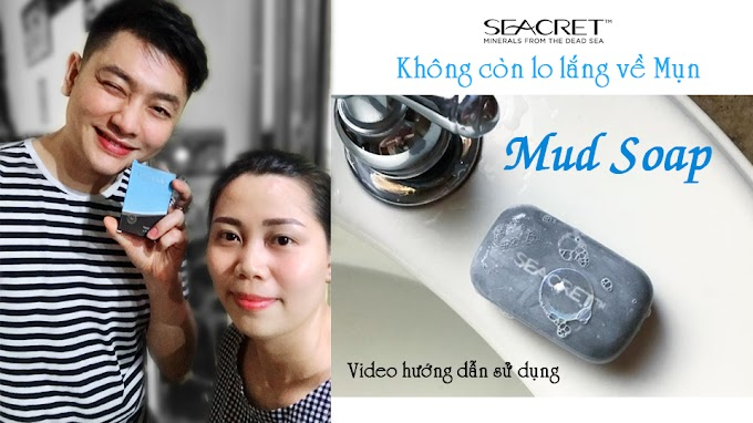 Xà bông bùn khoáng Mud Soap rửa mặt ngừa mụn cùng Seacret
