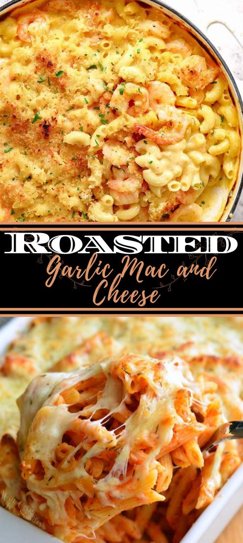 Roasted Garlic Mac and Cheese #dinnerrecipe #food #amazingrecipe #easyrecipe