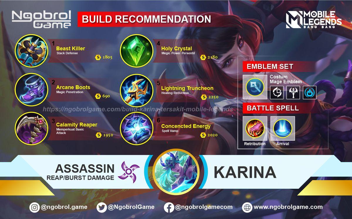 Build Karina Top Global Tersakit Mobile Legends