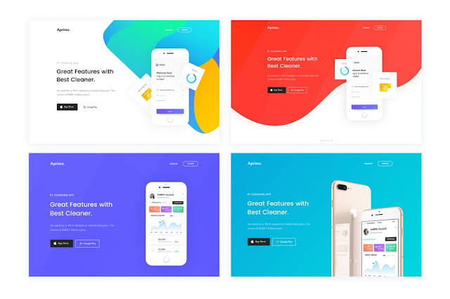 Faster App Landing Page HTML Templates