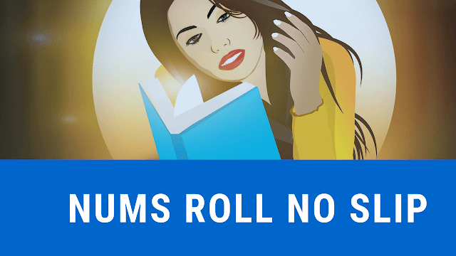 nums roll no slip 2018