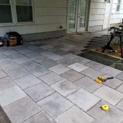 application of the concrete decking tiles