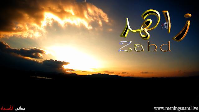 معنى اسم زاهد وصفات حامل هذا الاسم  Zahd