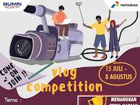 Lomba Vlog Nasional 2019 di  Pertamina, Hadiah 10 Jt