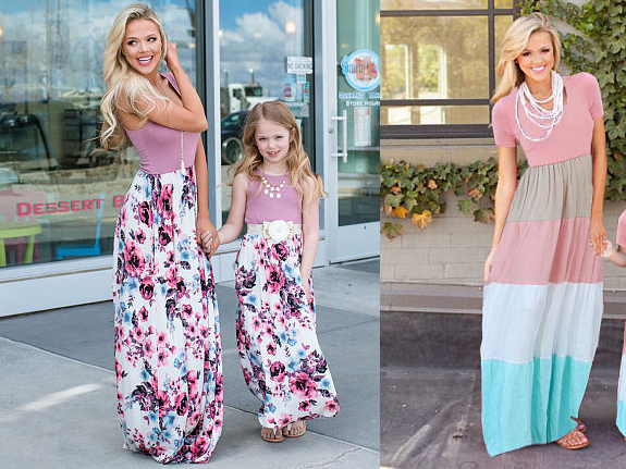 POPREAL: Mother & Daughter Matchy Outfits