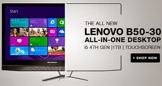 Lenovo B50-30 All-in-One (4th Gen Ci5/ 8GB/ 1TB/ Win8.1/ Touch/ 2GB Graph) for Rs.65999 Only with 3 Yrs Warranty @ Flipkart