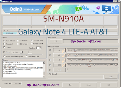 سوفت وير هاتف Galaxy Note 4 LTE-A AT&T موديل SM-N910A روم الاصلاح 4 ملفات تحميل مباشر