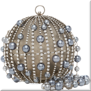 Rosantica Ida crystal blue faux pearl bag #bags #eveningbags #rosantica #brilliantluxury