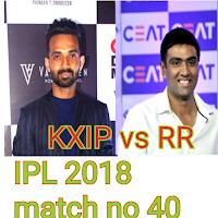 IPL 2018 RR vs KXIP