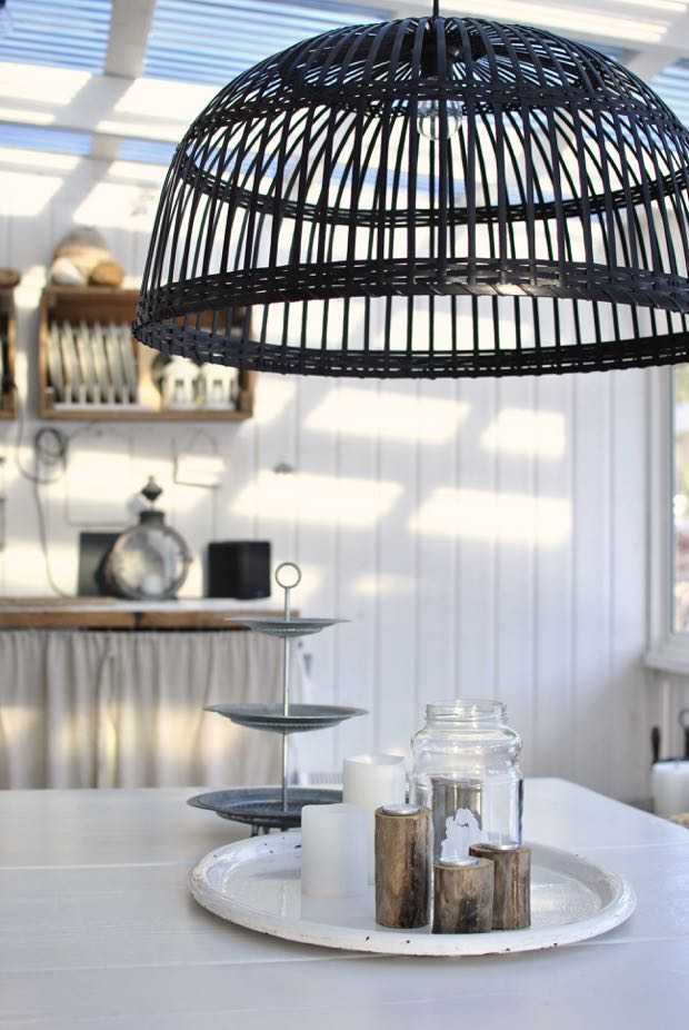 hannashantverk.blogspot.se inglasat uterum utekök matbord rottinglampa ljusbricka