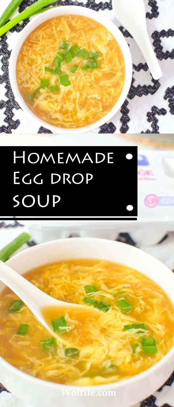 Homemade Egg Drop Soup Recipe #Soup #Healthy