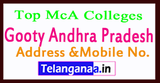 Top MCA Colleges in Gooty Andhra Pradesh
