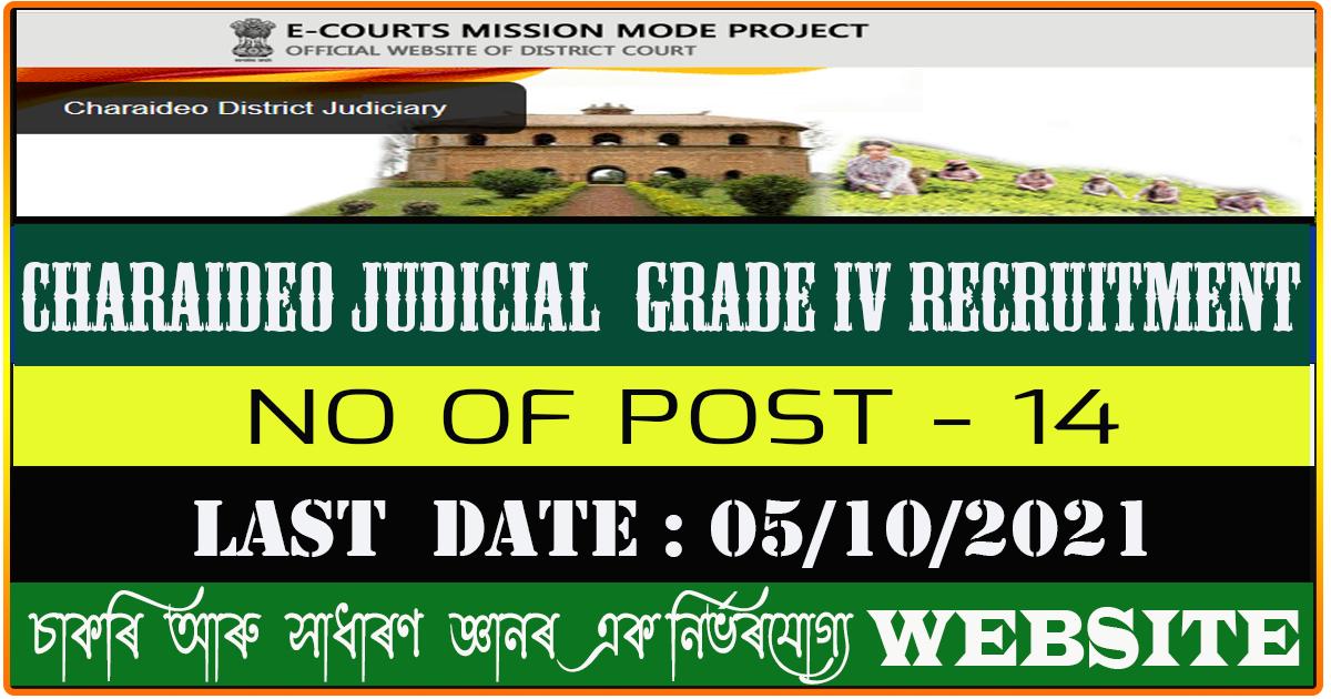 Charaideo Judicial Recruitment 2021 - Apply for Grade IV Vacancy