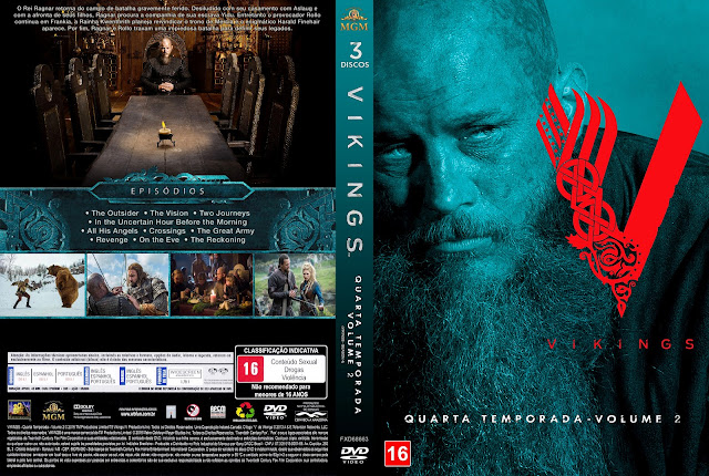 Capa DVD Vikings Quarta Temporada Volume 2 [Custom]