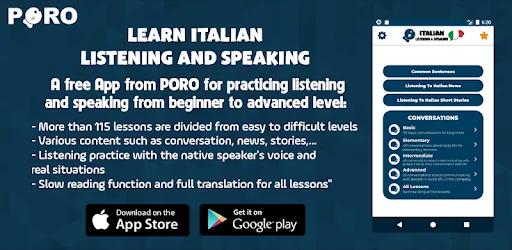 تنزيل Learn Italian - Listening And Speaking   برنامج تعلم اللغة الإيطالية سريع وسهل لنظام الاندرويد