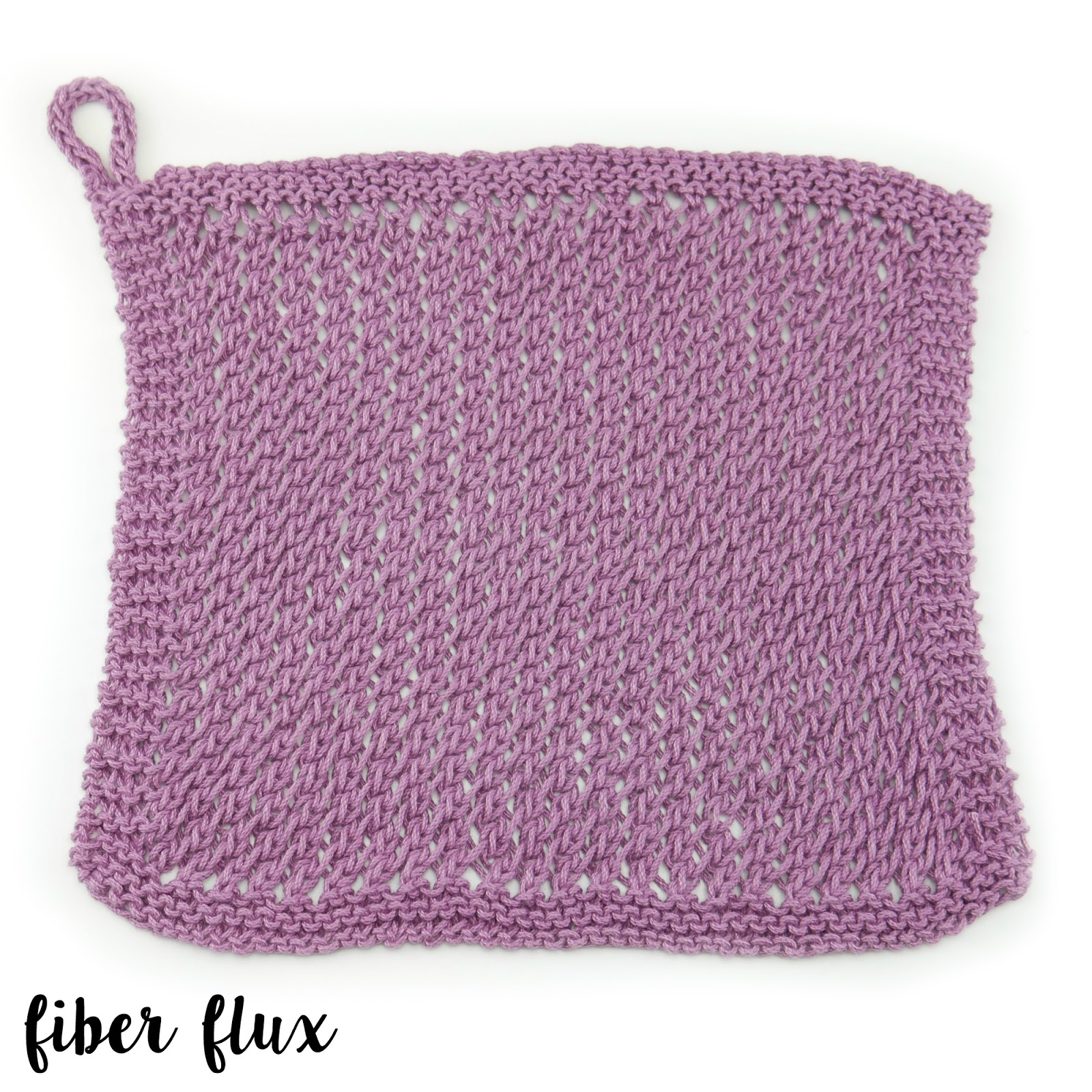 Fiber Flux: Free Knitting Pattern...Textured Lace Dishcloth!