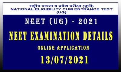 NEET Exam 2021 Details