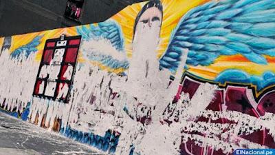 Inti y Bryan: destruyen murales de homenaje a héroes del bicentenario