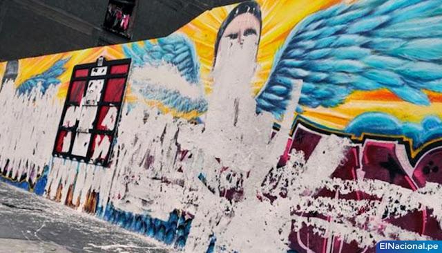Destruyen murales Inti y Bryan