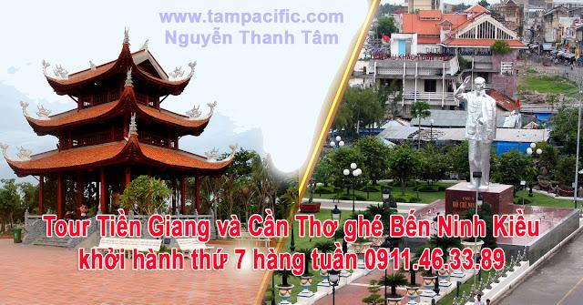 Tour Tiền Giang và Cần Thơ ghé Bến Ninh Kiều khởi hành thứ 7 hàng tuần