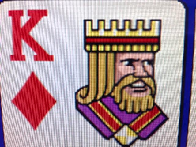 video poker king card