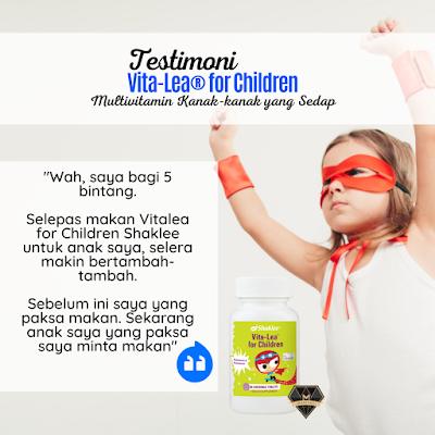 Testimoni Vitalea for Children Selera Anak Bertambah