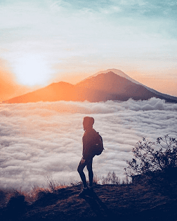The Golden Sunrise Traveling Spot of Bali, Mount Batur