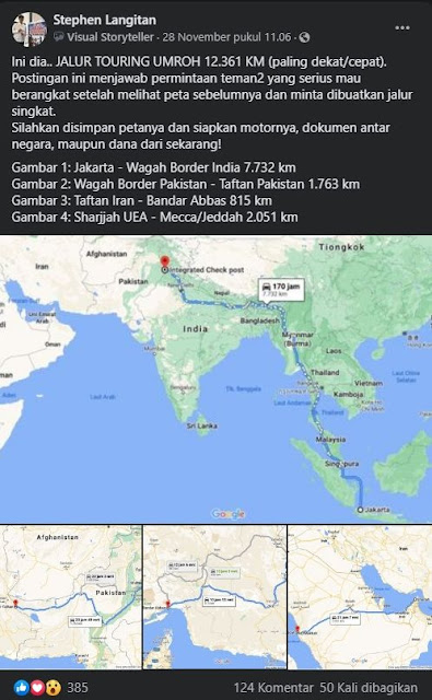 Ada Umroh Via Jalur Touring, Naik Motor Sejauh 12 Ribu Km, Berminat?