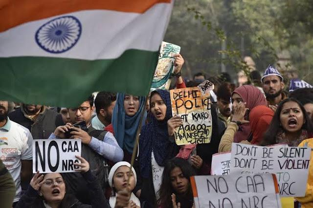 protest against the citizenship amendment law