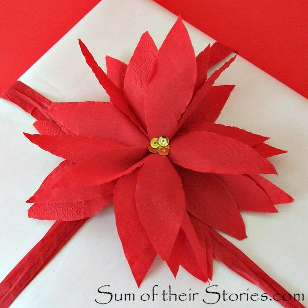 Paper Napkin Poinsettias