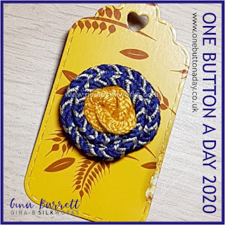 Day 225 : August - One Button a Day 2020 by Gina Barrett