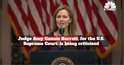Judge Amy Connie Barrett, for the U.S. Supreme Court; is being criticized