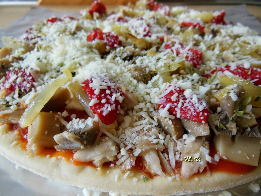 PIZZA POLLO Y CHAMPI 5