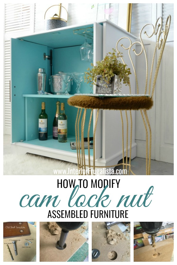 How To Modify Cam Lock Nut Furniture Tutorial
