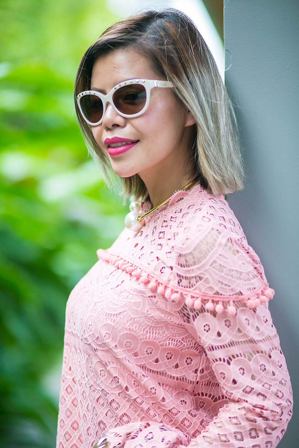 Crystal Phuong- Revolve Clothing x Tularosa pink lace dress- Sweet Love