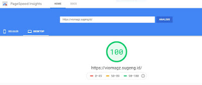 skor-template-viomagz-di-pagespeed-insight-versi-dekstop